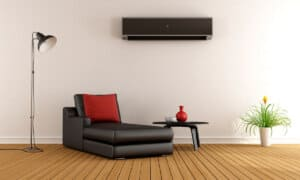 varmepumpe i stuen i Horsens